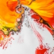 abstract background of bright paints